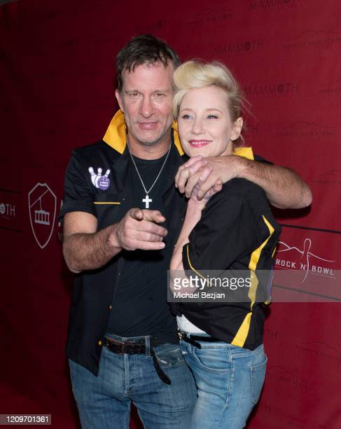 Thomas Jane and Anne Heche arrive at 3rd Annual Mammoth Film Festival Red Carpet Saturday on February 29 2020 in Mammoth Lakes California