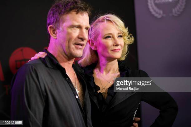 Thomas Jane and Anne Heche arrive at the 3rd Annual Mammoth Film Festival Red Carpet - Friday on February 28, 2020 in Mammoth Lakes, California.
