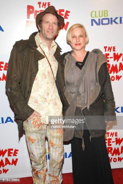 Thomas Jane and Patricia Arquette attend The Pee Wee Herman Show Opening Night at Club Nokia on January 20 2010 in Los Angeles California