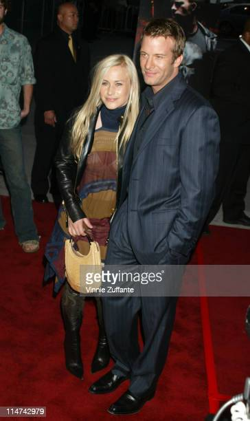 """Thomas Jane and Patricia Arquette attending the premiere of """"The Punisher"""" at the Archlight Theatre in Hollywood, California 04/13/04"""