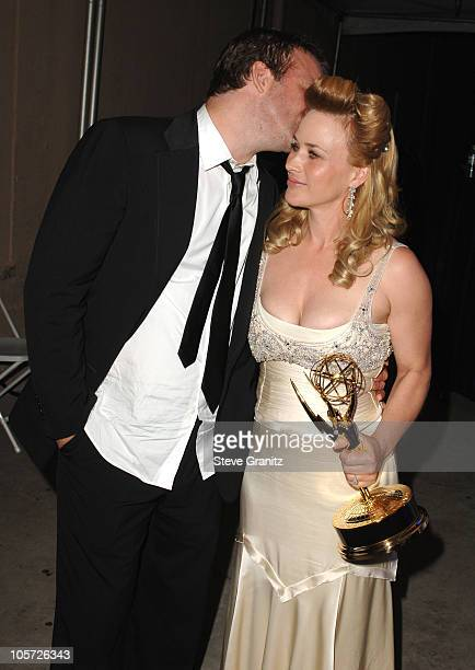 Thomas Jane and Patricia Arquette during The 57th Annual Emmy Awards Governors Ball at Shrine Auditorium in Los Angeles California United States