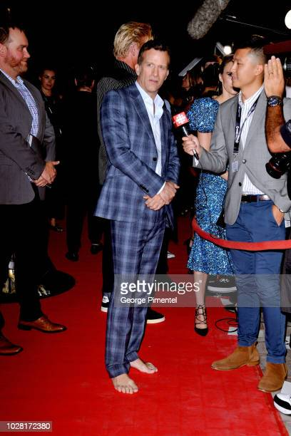 """Thomas Jane attends the """"The Predator"""" premiere during the 2018 Toronto International Film Festival at Ryerson Theatre on September 6, 2018 in..."""