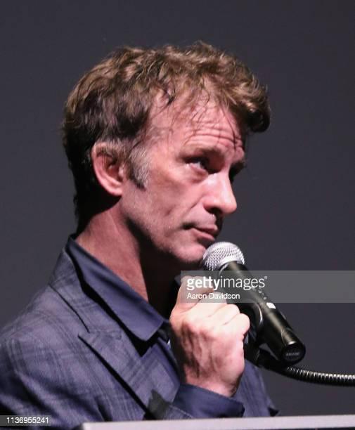 Thomas Jane speaks on stage during the 2019 Sarasota Film Festival on April 13 2019 in Sarasota Florida