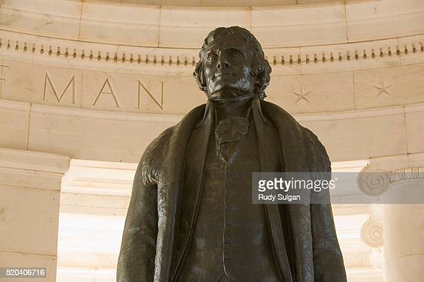 thomas jefferson by rudolph evans - jefferson memorial stock pictures, royalty-free photos & images