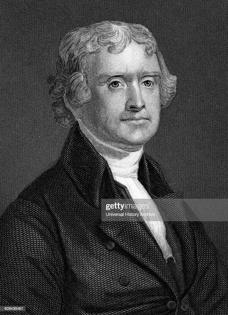 Thomas Jefferson President Usa Man : News Photo