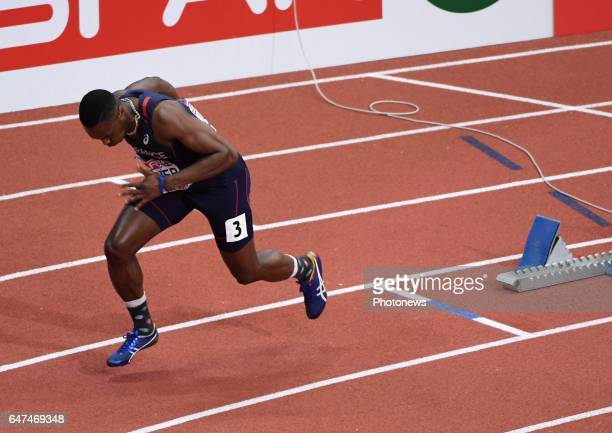 Thomas Jordier 400 M pictured during first day of European indoor athletics championships Belgrade 2017 on march 3 till 5 2017 in Belgrade Serbia...