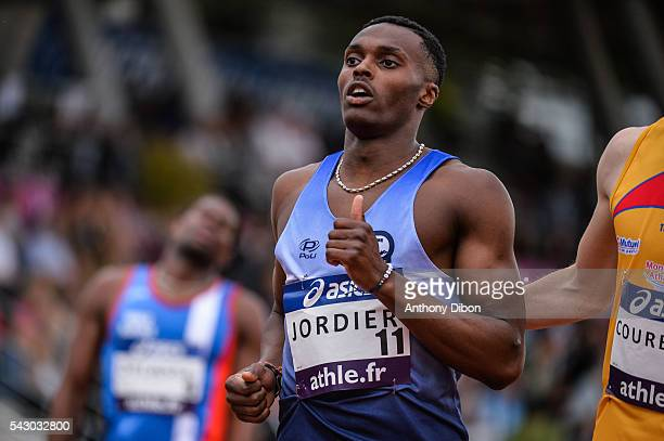 Thomas Jordier during the French Championship Athletic at Parc des Sports du Lac de Maine Josette Roger Mikulak on June 25 2016 in Angers France