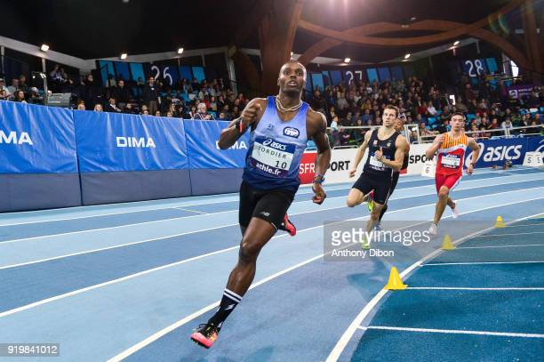 Thomas Jordier Maxime Teniere and Rija Gardiner during the Athletics French Championship Indoor on February 17 2018 in Lievin France