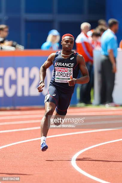 Thomas Jordier of France in action during qualifying for the 400m during the European Athletics Championships at Olympic Stadium on July 6 2016 in...