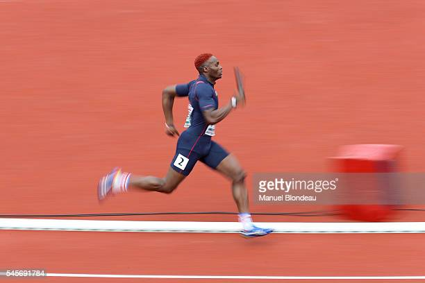 Thomas Jordier of France in action during qualifying for the 4x400m Relay during the European Athletics Championships at Olympic Stadium on July 9...
