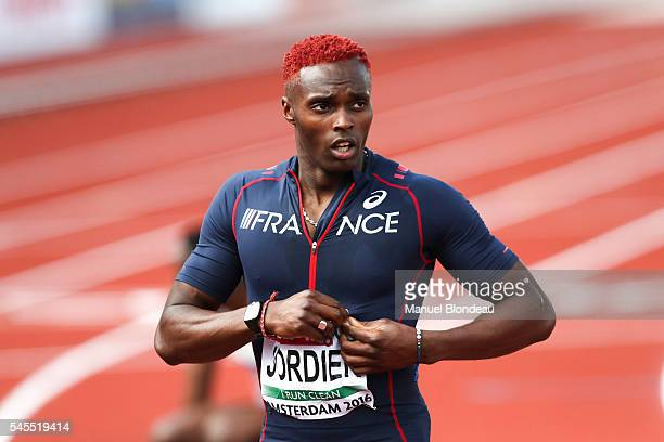 Thomas Jordier of France in action during the semi final of the men 400m during the European Athletics Championships at Olympic Stadium on July 7...