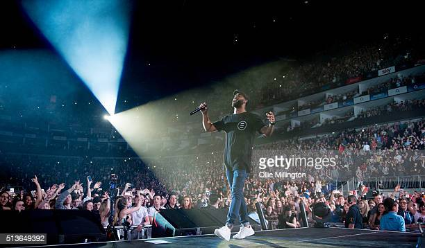 Thomas Jules of Rudimental performs onstage at The O2 Arena on March 3 2016 in London England