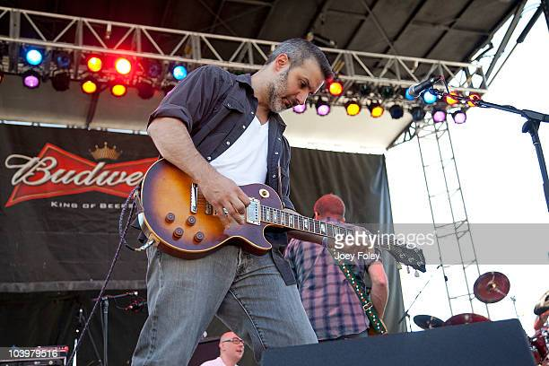 Thomas Juliano of Seven Mary Three performs during the 15th Annual Rib America Festival Day 3 at Military Park on September 5 2010 in Indianapolis...