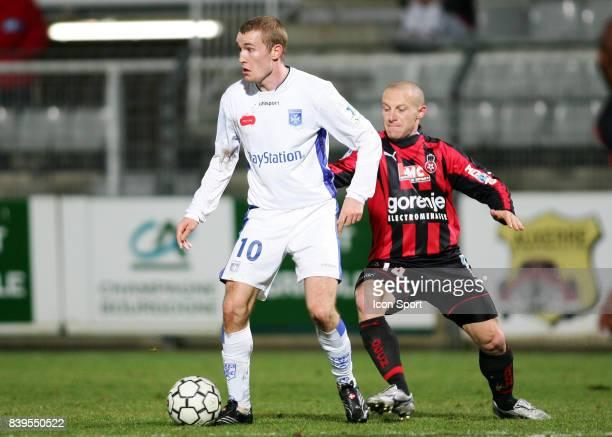 Thomas KAHLENBERG / Florent BALMONT Auxerre / Nice 30e journee Ligue 1