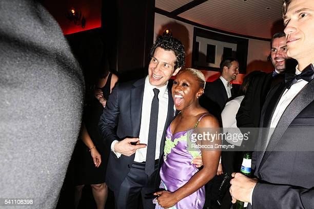 Thomas Kail and Cynthia Erivo at the Hamilton afterparty for the Tony Awards at Tavern on the Green in New York NY on June 13 2016