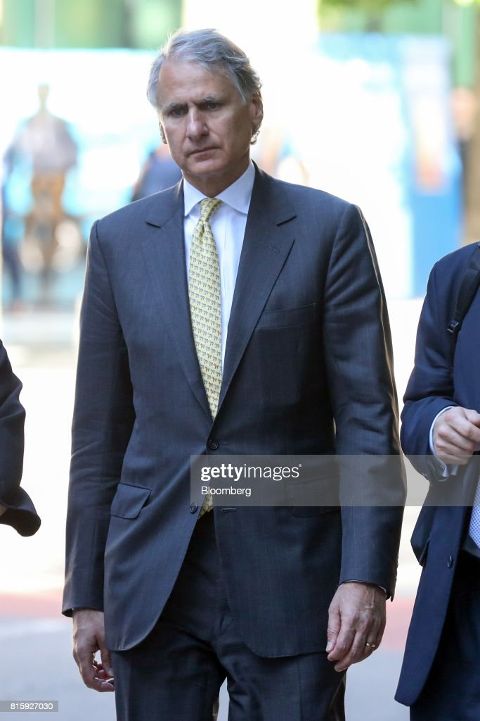Thomas Kalaris, former chief executive officer of Barclays Wealth, arrives at Southwark Crown Court in London, U.K., on Monday, July 17, 2017. Kalaris, along with three formerBarclays Plcexecutives will stand trial on allegations they conspired to commit fraud over the bank's 2008 fundraising with Qatar in 2019, a London judge ruled. Photographer: Chris Ratcliffe/Bloomberg via Getty Images