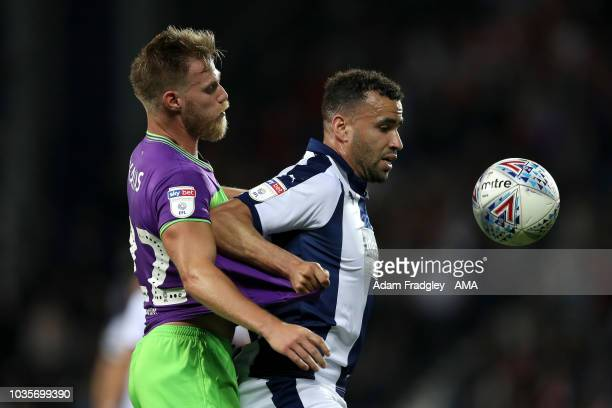 Thomas Kalas of Bristol City and Hal RobsonKanu of West Bromwich Albion during the Sky Bet Championship match between West Bromwich Albion and...
