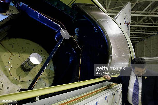 Thomas Keilig telescope manager for SOFIA outside the telescope structure of SOFIA inside NASA's Dryden AIrcraft Operations Facility at the Palmdale...