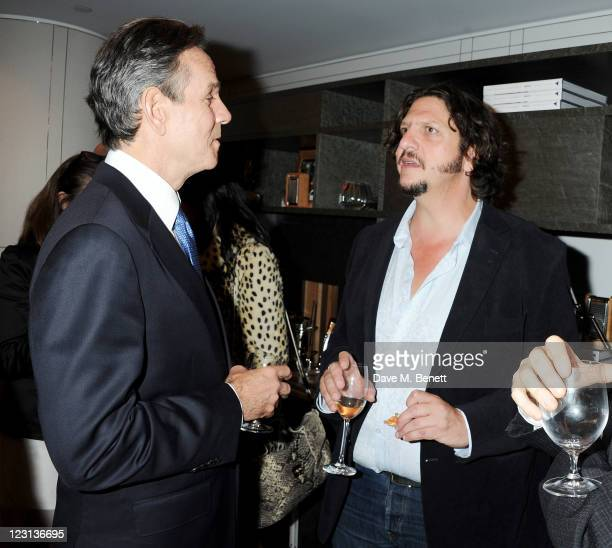 Thomas Keller and Jay Rayner attend the launch of The French Laundry popup restaurant at Harrods on August 31 2011 in London England