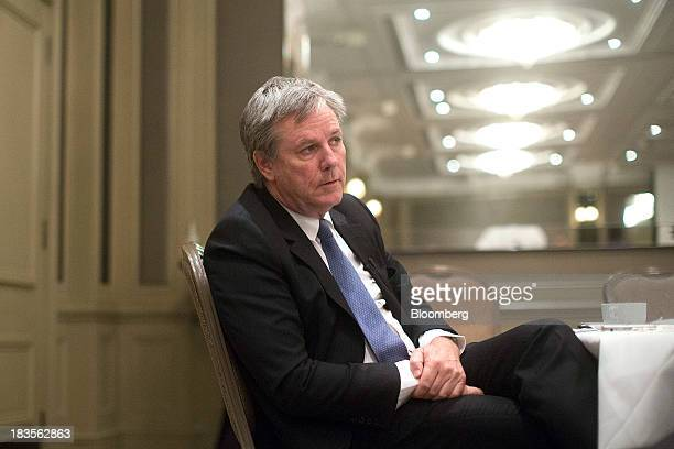 Thomas Keller chief executive officer of Codelco listens during a Bloomberg Television interview in London UK on Monday Oct 7 2013 Codelco based in...