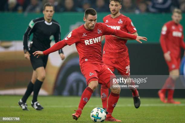 Thomas Kessler of FC Koln during the German DFB Pokal match between Schalke 04 v 1 FC Koln at the Veltins Arena on December 19 2017 in Gelsenkirchen...