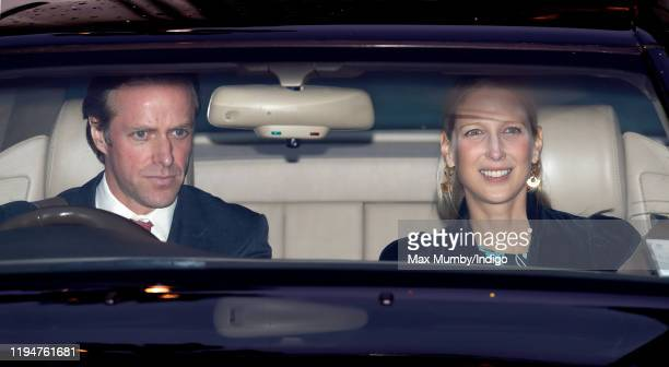 Thomas Kingston and Lady Gabriella Windsor attend a Christmas lunch for members of the Royal Family hosted by Queen Elizabeth II at Buckingham Palace...