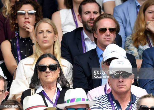 Thomas Kingston and Lady Gabriella Windsor attend day eight of the Wimbledon Tennis Championships at All England Lawn Tennis and Croquet Club on July...