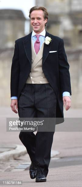 Thomas Kingston arrives at St George's Chapel for his wedding to Lady Gabriella Windsor on May 18, 2019 in Windsor, England.
