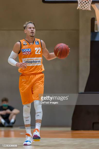 Thomas Klepeisz of ratiopharm ulm controls the Ball during the pre-season friendly match between Ratiopharm Ulm and KK Olimpija at OrangeCampus on...