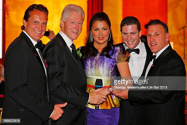 Thomas Koblmueller Bill Clinton Anna Netrebko Rafael Schwarz and Jim Ferraro attend the 'AIDS Solidarity Gala 2013' at Hofburg Vienna on May 25 2013...