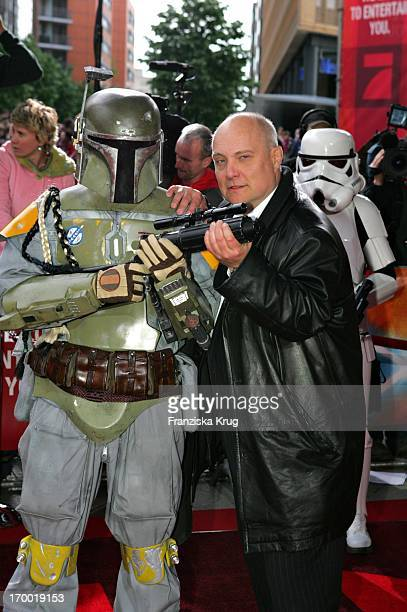 Thomas Koschwitz With A Star Wars figure at the Germany premiere of Star Wars Episode Iii Revenge of the Sith the theater at Potsdamer Platz in Berlin
