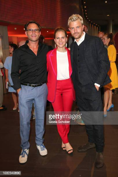Thomas Kretschmann Alicia von Rittberg and Friedrich Muecke during the premiere of the film 'Ballon' at Mathaeser Filmpalast on September 12 2018 in...