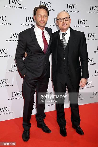 Thomas Kretschmann and Georges Kern attend the IWC Schaffhausen Race Night event during the Salon International de la Haute Horlogerie 2013 at...