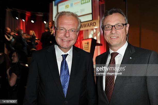 Thomas Kreuzer and Siegfried Schneider attend the CNN Journalist Award 2012 at the GOP Variete Theater on March 27, 2012 in Munich, Germany.