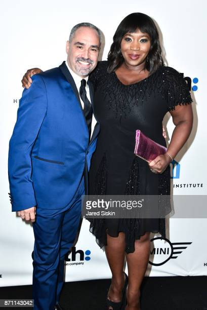 Thomas Krever and Bevy Smith attend HetrickMartin Institute's 2017 'Pride Is' Emery Awards at Cipriani Wall Street on November 6 2017 in New York City