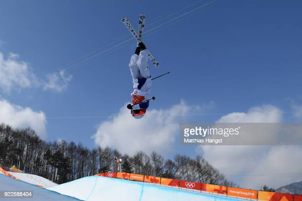 Thomas Krief of France competes during the Freestyle Skiing Men's Ski Halfpipe Final on day thirteen of the PyeongChang 2018 Winter Olympic Games at...