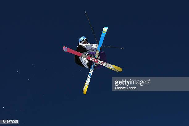 Thomas Krief of France during the Big Air practice on Day One of the Tignes Airwaves Freestyle Ski event at Tignes Val Claret on January 4 2009 in...
