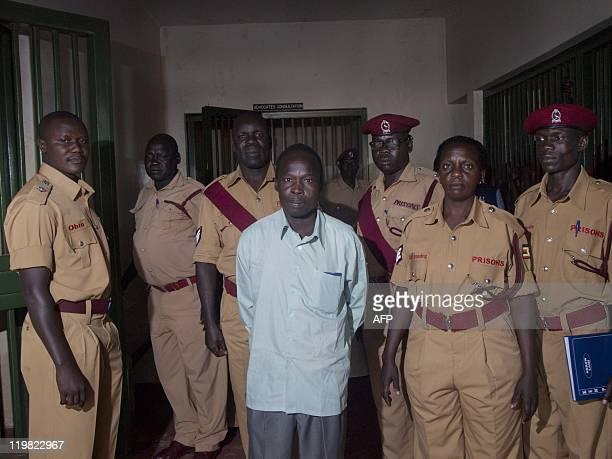 Thomas Kwoyelo a commander of the Lord's Resistance Army rebellion blamed for brutal civilian murders during a 20year war in the north of the country...