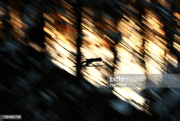 Thomas Lackner of Austria competes during the practice round prior to the Qualification at the Four Hills Tournament 2020 Bischofshofen at on January...