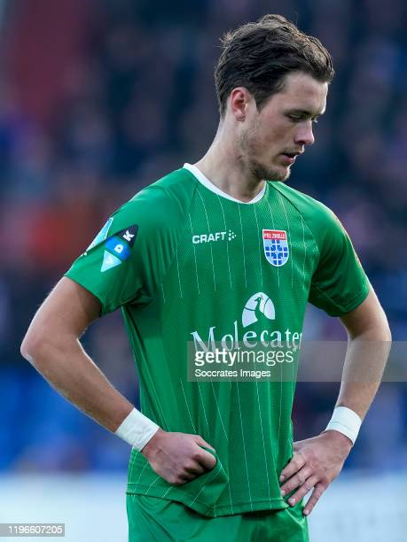 Thomas Lam of PEC Zwolle disappointed during the Dutch Eredivisie match between Willem II v PEC Zwolle at the Koning Willem II Stadium on January 26,...