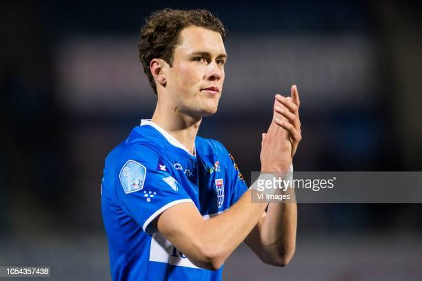 Thomas Lam of PEC Zwolle during the Dutch Eredivisie match between PEC Zwolle and Heracles Almelo at the MAC3Park stadium on October 27, 2018 in...