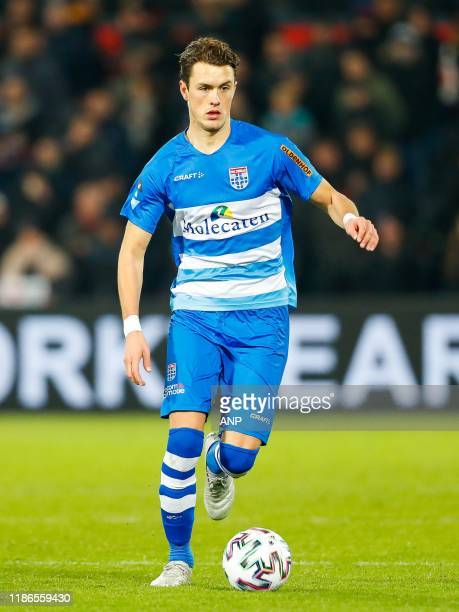 Thomas Lam of PEC Zwolle during the Dutch Eredivisie match between Feyenoord Rotterdam and PEC Zwolle at De Kuip on December 01, 2019 in Rotterdam,...