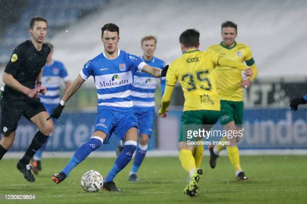 Thomas Lam of PEC Zwolle during the Dutch Eredivisie match between PEC Zwolle v Fortuna Sittard at the MAC3PARK Stadium on January 16, 2021 in Zwolle...