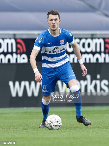Thomas Lam of PEC Zwolle during the Dutch Eredivisie match between PEC Zwolle v RKC Waalwijk at the MAC3PARK Stadium on February 6, 2021 in Zwolle...