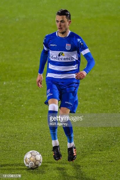 Thomas Lam of PEC Zwolle during the Dutch Eredivisie match between PEC Zwolle and FC Twente at MAC3PARK Stadium on April 10, 2021 in Zwolle,...