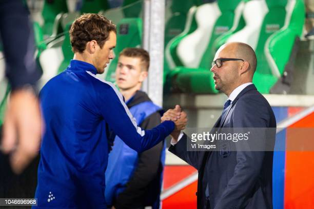 Thomas Lam of PEC Zwolle, technical director Gerard Nijkamp of PEC Zwolle during the Dutch Eredivisie match between PEC Zwolle and sbv Excelsior...