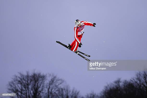 Thomas Lambert of Switzerland competes in the Freestyle Skiing Men's Aerials Qualification on day ten of the 2014 Winter Olympics at Rosa Khutor...