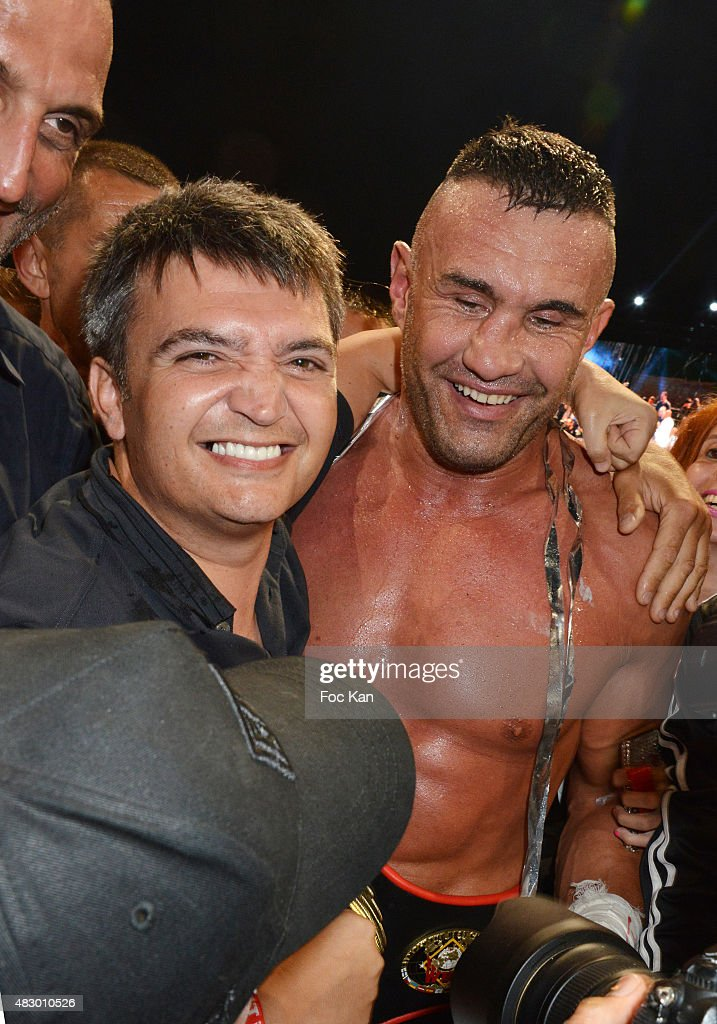 Thomas Langmann and Jerome Le Banner attend the 'Fight Night 2015' Gala Show at La Citadelle de Saint Tropez on on August 4, 2015 in Saint-Tropez, France.