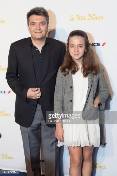 Thomas Langmann et sa fille lors de la première du film 'Le Petit Prince' pendant le 68eme Festival du Film Annuel au Palais des Festivals le 22 mai...