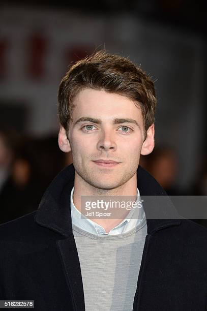 Thomas Law arrives for the European premiere of 'Eddie The Eagle' at Odeon Leicester Square on March 17 2016 in London England